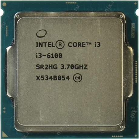 Процессор Intel Core i3-6100 BOX 3.7 ГГц / 2core / SVGA HD Graphics 530 / 0.5+3Мб / 51 Вт s.1151