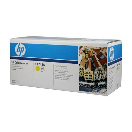 Картридж HP CE742A (HP Color LaserJet CP5220) желтый