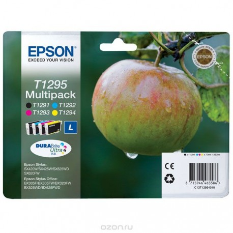 Комплект картриджей Epson T1295 Multipack (C13T12954010) (SX425/SX525/BX305/BX320/BX625)