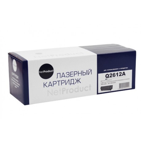 Картридж НР Q2612A/FX10 (LJ 1012/1015/1018/1022/1022N/3015/3020/3030/3050/3052/3055) NetProduct