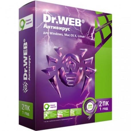 Антивирус Dr.Web на 2 ПК на 1 год