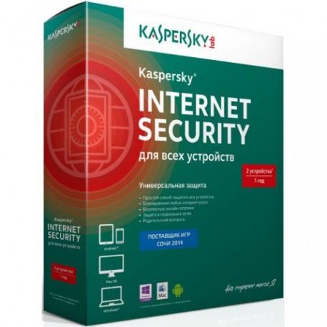 Антивирус Kaspersky Internet Security на 2 устройства на 1 год