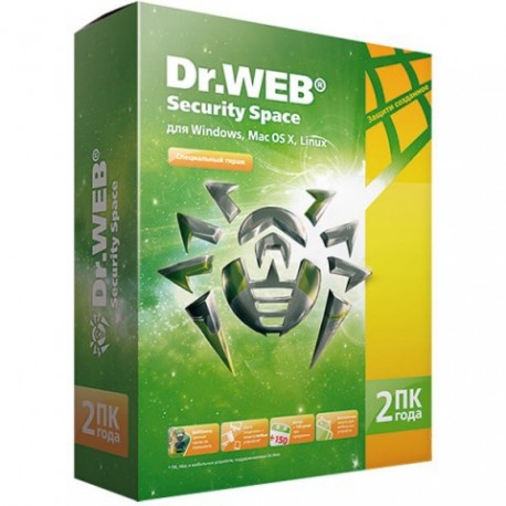 Антивирус Dr.Web Dr.Web Security Space 2014 на 2 года на 2 ПК