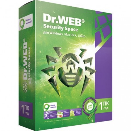 Антивирус Dr.Web Dr.Web Security Space на 12 мес. на 1ПК