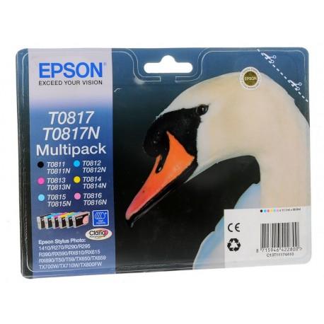 Картридж Epson (ЛЕБЕДЬ) T08174/T11174 для R270/R390/RX590/TX700W/T50 MultiPak (C,M,Y,Lc,Lm,B)