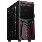 Корпус GTT ELEGANT2000RT без БП ATX - 2*USB2,1*USB3, 2*5.25ext, 4*3.5int BLACK/RED