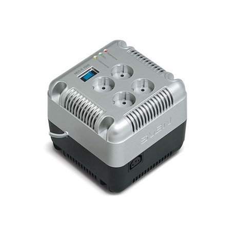 Стабилизатор SVEN NEO R 1500 1500ВА/750Вт Выходные розетки, шт 4 × CEE7/4 + 1 × ІЕС 320